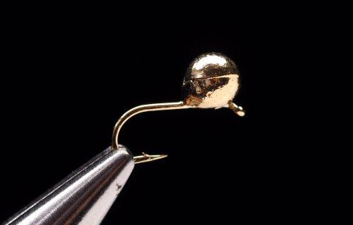 Tungsten Gold Jig Head Hooks Size #16 1/100 oz.