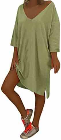ca884b44936 Women V Neck Feminino Vesti Caftan Boho Beach Cover Plus Size Ladies Baggy  Dress