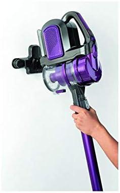 Clatronic BS 1307 Aspiradora Escoba Cable, bateria 21,6V, tecnología ciclónica sin Bolsa, Filtro HEPA, Convertible Uso Vertical y de Mano, Color Lila, Acero Inoxidable, anthrazit-violett: Amazon.es: Hogar