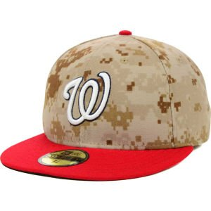 MLB Washington Nationals 2014 Washington Nationals Memorial Day 59Fifty Cap, Size 7 3/8