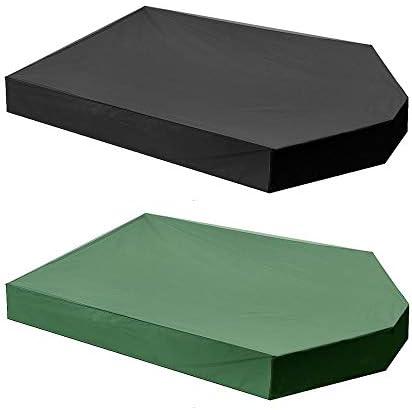 ガーデンテーブル カバー 160x113x22cmオックスフォードサンドボックス砂場カバー防塵防水ベルト巾着は広く砂場カバーとして使用されています 防水 防塵 多機能 家具カバー (色 : Black, Size : 160x113x22cm)