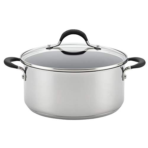 Circulon 78005 5-Qt. Cov Stainless Steel Dutch Oven, 5 quart,