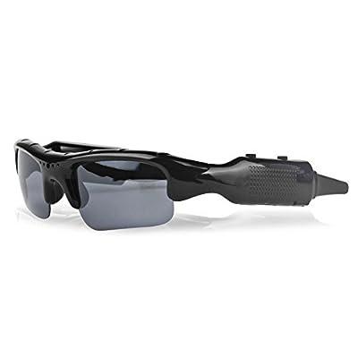 Visionlight Pinhole Hidden Spy Video Recorder Video Glasses Hidden Camera Sport Action Camcorder DVR Sunglasses Eyewear Camera w/ Micro SD Slot