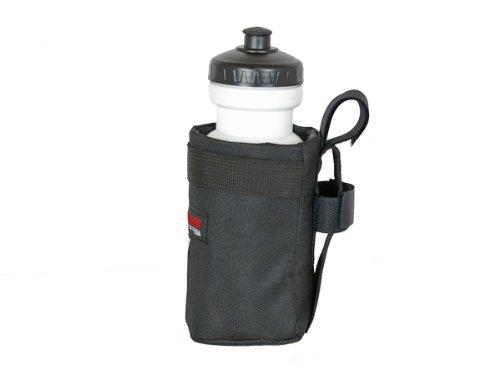 Bushwhacker Shasta Black - Insulated Bike Water Bottle Holder w/ 20 oz. Bottle - Two Point Bike Frame & Handlebar Attachment w/ Belt Loop by Bushwhacker (Image #1)