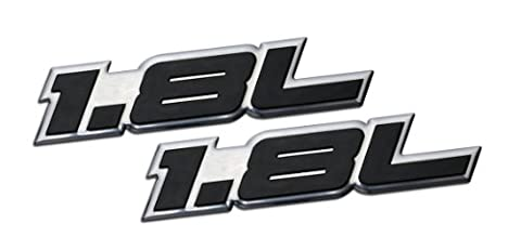 2 x (pair/Set) 1.8L Liter Embossed BLACK on Highly Polished Silver Real Aluminum Auto Emblem Badge Nameplate for Honda Civic DX LX EX EX-L Hybrid CNG DX-VP Acura Integra Nissan Sentra GXE SR SV XE Versa S Cube Mazda Miata MX5 MX-5 LS M GS Protégé ES Mitsubishi Eclipse GS Mirage Toyota Corolla CE DX L SE LE VE Sport Matrix XR STD MR2 Spyder Prius CVT V Camry Celica GTS Sedan coupe 2 3 4 5 2dr 3dr 4dr 5dr door hatchback turbo turbocharged