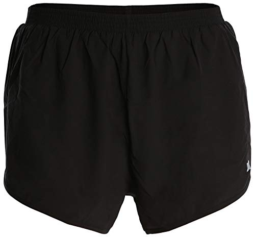 Fort Isle Men's Short Running Racing Shorts - L - Black - Lightweight Breathable Gym -