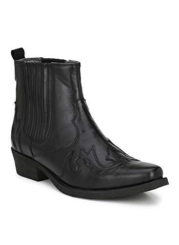 7ffd528b79e Delize Black Size 10 Premium Synthetic Leather High Ankle Men Cow Boy Boots