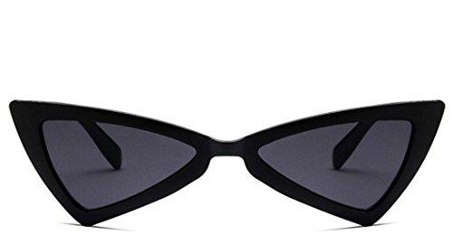 Triangulares Color de UV400 Mujer para Negro Sol Gafas Godlife vIw0g