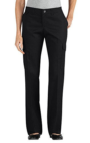 Dickies Women's Relaxed Straight Server Cargo Pants, Black, 10 UU
