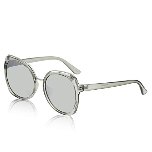 Oversized Sunglasses For Women/Men Square Butterfly Sun Glasses UV400 Protection (z Silver m)