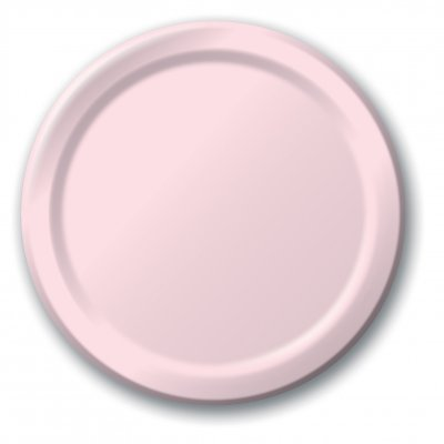 Creative Converting Touch of Color Paper Lunch Plates, 24-Count, Classic Pink]()