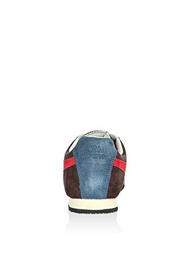 Sneakers - 4431-pigsueu Dark Chocolate-Blue