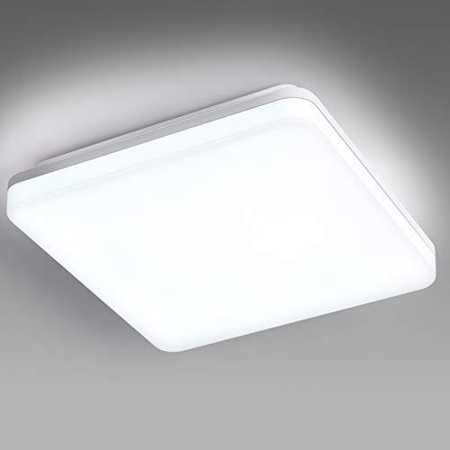 Plafón LED Lámpara de Techo 24W Resistente al Agua IP44 1800 Lúmenes 6000K Equivalente a 120W Lámpara Incandescente…
