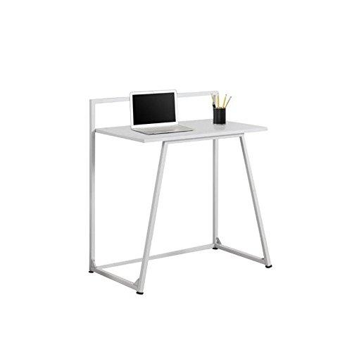 """Price comparison product image Monarch Metal Computer Desk,  White,  30"""""""