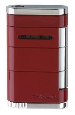 Xikar Allume Single Torch Flame Cigar and Cigarette Lighter Red Riot Lifetime Warranty (Jet Single Lighter)