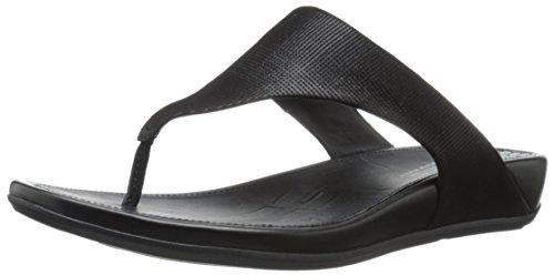 Fitflop WoMen Banda Opul Open Toe Sandals, Black, 1 Black