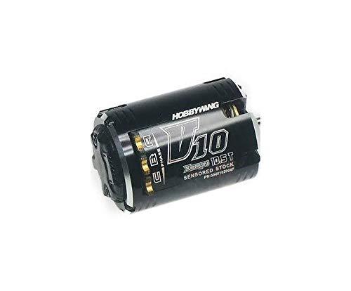 (Hobbywing Xerun-V10-Bandit-10.5T-Black 3450kV Outlaw Edition Sensored Brushless Motor (1/10 Scale))