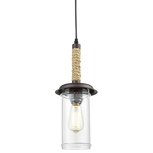 Rope Glass Pendant Light