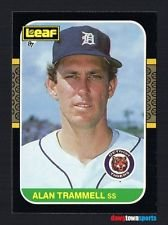 1987 Leaf Alan Trammell #126 Detroit Tigers Legend Mint Condition Baseball Card