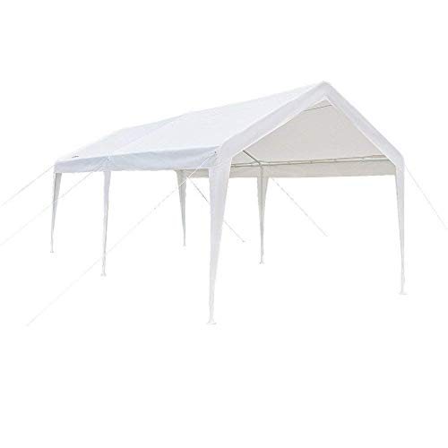VINGLI 10' x 20' Heavy Duty Outdoor Canopy Domain Carport,Car Park Sun Shelter, 250G Polyester Fabric Cover,Upgraded Steady Steel Panels,Wedding Party Event ()