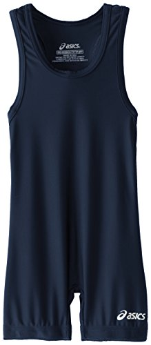 ASICS Men's Solid Modified Singlet, Navy, XX-Large