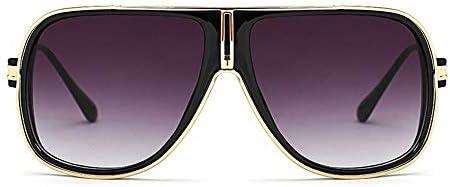LIUYALE Optische Brillen, Herrenaugenschutz Mode Anti-Müdigkeit Ultra-Light Trend-großes Feld Kühlt Sonnenbrillen for Außen Brillenfassungen (Color : Black/Gold)