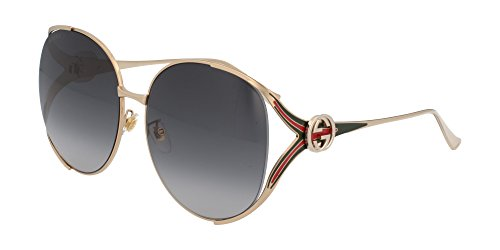 Gucci sunglasses (GG-0225-S 001) Gold - Green - Grey Gradient lenses