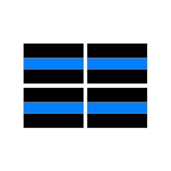 Thin Blue Line Decal Stickers