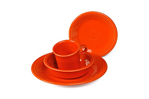 Place 5 Orange Setting Piece - Fiesta 4-Piece Place Setting, Poppy