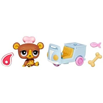 Littlest Pet Shop Pets On The Go 2105 Bear With Delivery Truck