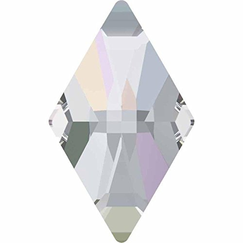 2709 Swarovski Nail Art Gems & Flatback Crystal Shapes Rhombus | Crystal AB | 10x6mm - Pack of 10 | Small & Wholesale Packs by SWAROVSKI