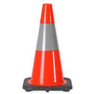 18'' 3 Lb. Traffic Cone with One 6 Inch 3m® Reflective Collar 12 Cones by JBC-Revolution Series PVC Traffic Cones