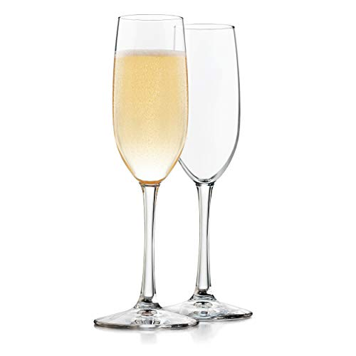 Libbey Midtown Champagne Flute Glasses, Set of 4