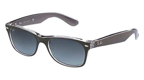 Ray Ban RB2132 614371 55 Gunmetal Clear New Wayfarer Sunglasses Bundle-2 - Ban Gunmetal Ray