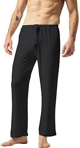 ZSHOW Men's Loose Fit Sport Yoga Pants Slant Pockets Indoor Pants(Black,S)