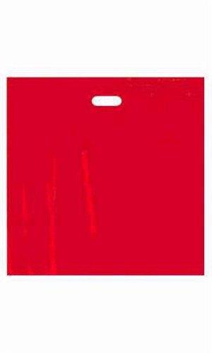 500 Bags Jumbo Red Low Density Merchandise Bag with Die Cut Handles 20''x20''x5'' by Merchandise Bag