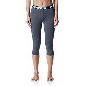 TM-WP15-GRYZ_Small Tesla Women's Cool Compression Capri / Pants Tights Leggings WP15