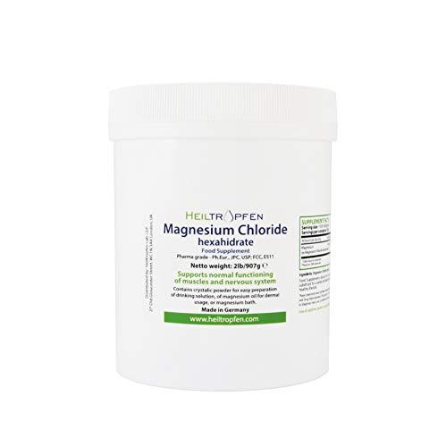 2 Pounds Magnesium Chloride, Hexahydrate, Pharmaceutical Grade, Crystal Powder, Pure Ph. EUR, BP, USP, 100% - Heiltropfen®