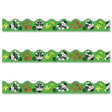 Trend Enterprises Products - Monkey Themed Trimmer, 12 Panels, 39' Long - Sold as 1 EA - Decorate classrooms and enhance learning environments with durable monkey mischief-themed trimmers. Versatile, precut and reusable trimmers frame learning displays on bulletin boards, white boards and walls with a scalloped design. Ideal for prekindergarten to ninth-grade (ages 3 to 15).