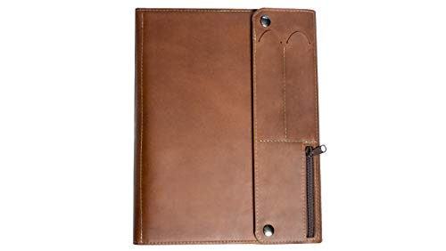 Allegory Padfolio - Handcrafted Leather Portfolio and Tablet Case (Saddle)
