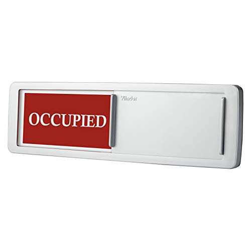 (Occupied Vacant Door Sign, Premium Privacy Sign for Bathroom Restroom Conference Room Office Exam, Magnetic and Strong Adhesive Option, Easy Silder Signs Sliding Design 7