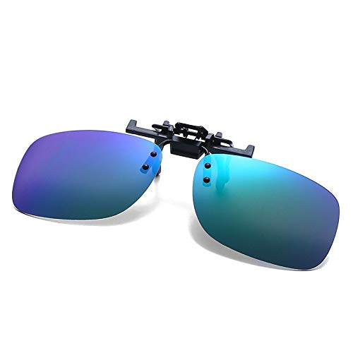 - BranXin - Luxury Super Light Polarized Sunglasses Clip Men Driving Sun Glasses Unisex Eyeglasses Accessories Clip on Lens [Green]
