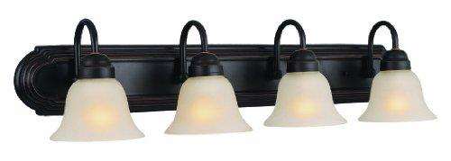 Design House 506626 Allante 4 Light Vanity Light, Oil Rubbed Bronze - Oil Rubbed Bronze 4 Light