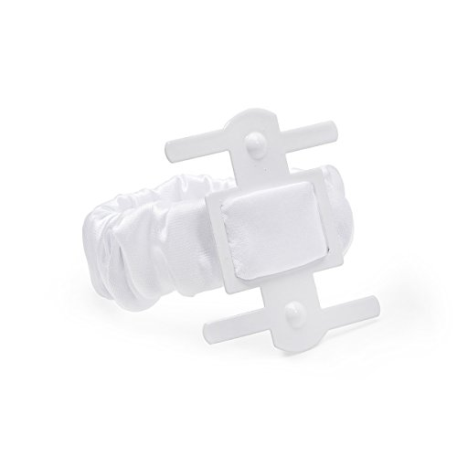 Darice VL5810W, Satin Covered Wrist Kaber Clip 1-Piece, White ()