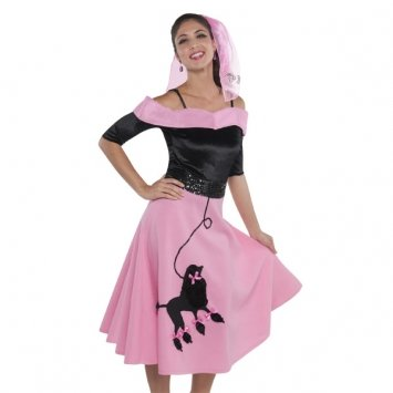 Amscan Fabulous '50s Costume Party Poodle Skirt (1 Piece), 41 1/2