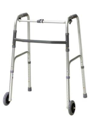 DSS Folding Walkers (adult, 5'' wheels-glides case of 4)