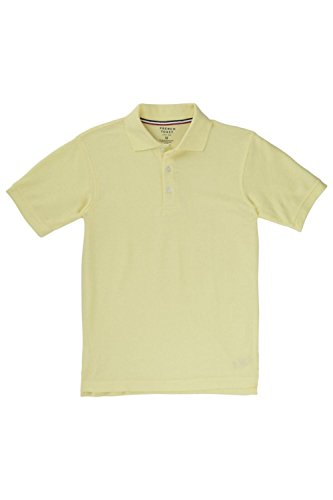 French Toast Little Boys' Toddler Short Sleeve Pique Polo, Yellow, 3T