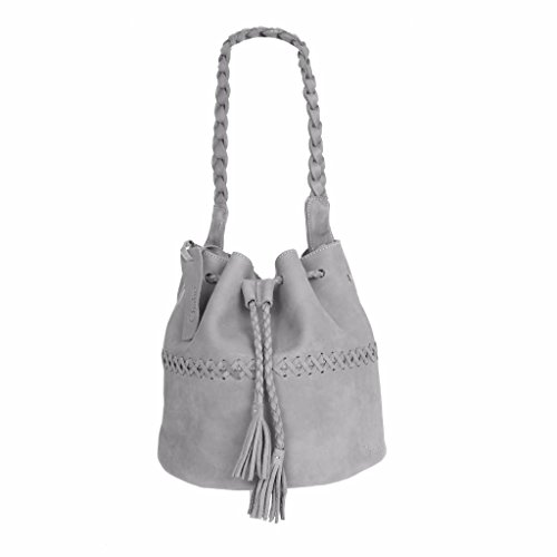 Chabo Bags, Borsa a spalla donna grigio Gray