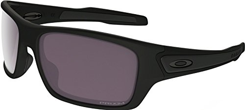 Oakley Boys' Turbine Xs Polarized Rectangular Sunglasses, Matte Black, 57 mm by Oakley