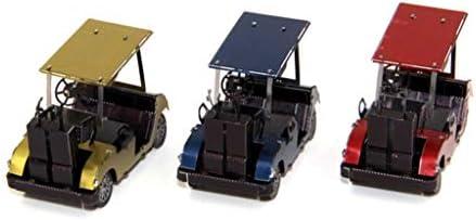 カーシリーズゴルフカート-3Dメタルモデルキットパズル(シルバー/マルチカラー)14+ (Color : Multicolor)
